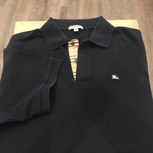 Burberry Men's Polo Shirt with Signature Pattern